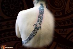 Bande Marquisienne Dos Femme Tagaloa Tiki Tattoo