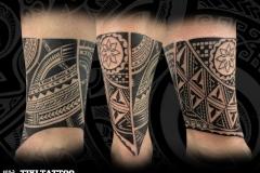 tatouage samoa cheville tibia mollet femme