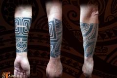 Tattoo avant bras marquisien