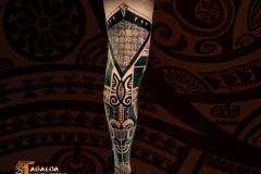 demi-jambe-cuisse marquisien tiki tattoo