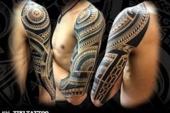 tatouage samoa mixte marquisien