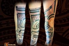 avant bras marquisien tiki tattoo
