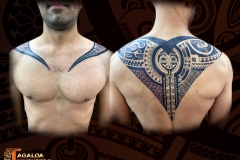 tatouage dos homme marquisien