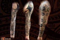 Bras homme tatouage traditionnel marquisien tagaloa tiki tattoo