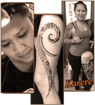 karere tatoueuse à tagaloa tiki tattoo